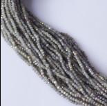 Zdjęcie - Kryształki oponki fasetowane steel grey AB 2x3mm
