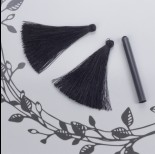 Chwost z wiskozy czarny 6,5cm