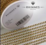 Zdjęcie - Taśma z kryształkami kolor złoty smoked topaz 2mm
