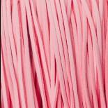 Zdjęcie - Rzemień zamszowy płaski pastelowy róż 1x2.5mm