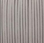 Zdjęcie - Rzemień zamszowy płaski siwy 1x2.5mm