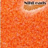 Zdjęcie - Koraliki NihBeads 12/0 Inside-Color Lustered Crystal/ Neon Pumpkin