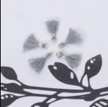 Zdjęcie - Mini chwosty w srebrnym okuciu szary 10mm