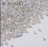 Zdjęcie - Koraliki Miyuki Delica 11/0 Gilt Lined White Opal