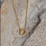 Zdjęcie - Srebrny, pozłacany koralik - obrączka, próba Ag925 7,5mm