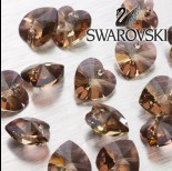 Swarovski heart 14 mm jonquil antique pink