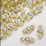 Zdjęcie - Przekładka z kryształkiem koloru złotego crystal  17mm