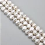 Zdjęcie - Perły naturalne button 10-11mm białe