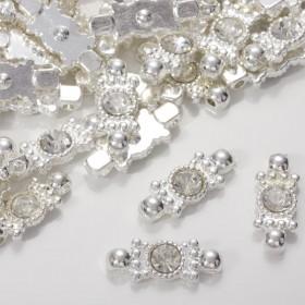 Zdjęcie - Przekładka z kryształkiem koloru srebrnego crystal  20,5mm