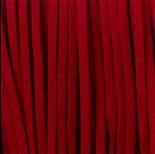 Zdjęcie - Rzemień zamszowy płaski ciemna czerwień 2,5x1mm