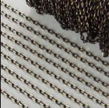 Zdjęcie - Łańcuszek owal diamentowany dodatkowo platerowany 3.5mm