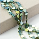 Zdjęcie - Hematyt platerowany krążek diamentowy emerald 12x4mm