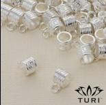 Zdjęcie - Krawatka do rzemieni z labiryntem w srebrnym kolorze 4.5mm