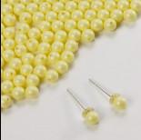 Zdjęcie - 5818 round pearl do kolczyków pastel yellow 4mm