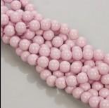 Zdjęcie - Koraliki szklane pastelowo różowe 10mm