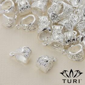 Zdjęcie - Krawatka z łezką w srebrnym kolorze 13x7.5mm