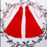 Zdjęcie - Chwosty z czapeczką ozdobną czerwony 15cm