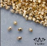 Zdjęcie - Koralik bryłka w złotym kolorze 4x3mm