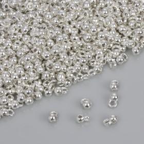 Zdjęcie - Drobna gładka krawatka w kolorze srebrnym 3.5mm