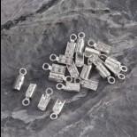 Zdjęcie - Srebrne zaciski do rzemieni, Ag925 2mm
