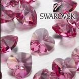 Zdjęcie - Swarovski heart 18 mm  rose