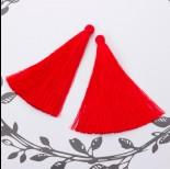 Zdjęcie - Chwost z wiskozy czerwony 10cm