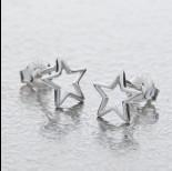 Zdjęcie - Srebrne kolczyki gwiazdki, próba Ag925 8.5mm