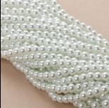Zdjęcie - Perły szklane białe 6mm