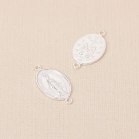Zdjęcie - Srebrny łącznik Matka Boska z dwoma oczkami AG925 24x13mm