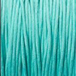 Zdjęcie - Sznurek bawełniany woskowany 1.5mm turkusowy