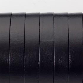 Zdjęcie - Rzemień naturalny płaski lakierowany 10x2mm czarny