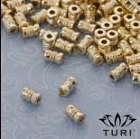 Zdjęcie - Koralik klepsydra w złotym kolorze 3.5x5.5mm