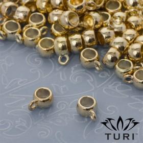 Zdjęcie - Krawatka oponka gładka w złotym kolorze 3.5mm