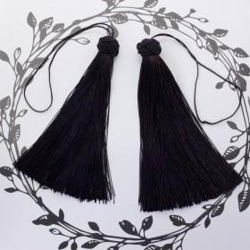 Zdjęcie - Chwosty z czapeczką ozdobną czarny 15cm