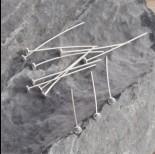 Zdjęcie - Szpilki srebrne talerzyki 3cm, Ag925