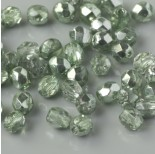 Zdjęcie - Fire Polish Coated 1/2 Silver/Olivine (K2502CR) 4mm