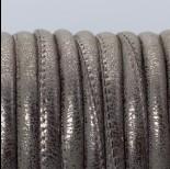 Zdjęcie - Rzemień szyty metaliczny srebrny 6mm