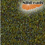 Zdjęcie - Koraliki NihBeads 12/0 Inside-Color Rainbow Jonquil/ Jet Line