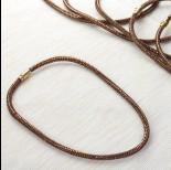Zdjęcie - Naszyjnik star dust bronze shade 6mm
