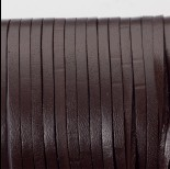 Zdjęcie - Rzemień naturalny płaski lakierowany 3x2mm czekoladowy