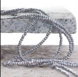 Zdjęcie - Hematyt oponka fasetowana koloru srebrnego 3x2mm