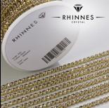 Zdjęcie - Taśma z kryształkami kolor złoty black diamond 3mm