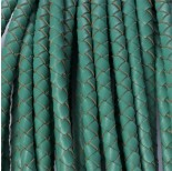 Zdjęcie - Rzemień naturalny pleciony turkusowy 5mm