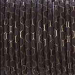 Zdjęcie - Rzemień klejony brązowy ze wzorem 4mm