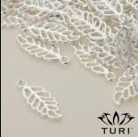 Zdjęcie - Zawieszka ażurowy liść orzecha w srebrnym kolorze 20x8.5mm