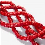 Zdjęcie - Nieregularne czerwone plasterki z korala 14mm