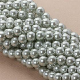 Zdjęcie - Perły szklane siwe 10mm