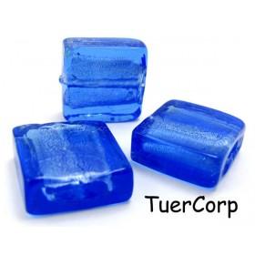 Zdjęcie - Szkło weneckie kwadrat niebieski 15mm