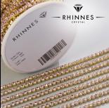 Zdjęcie - Taśma z kryształkami kolor złoty lt. rose 3mm