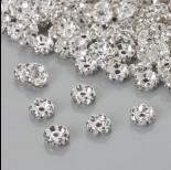 Zdjęcie - Przekładka rondelek z kryształkami crystal 8mm